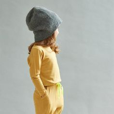 Smalls Long Sleeved Merino Kids Shirt Mustard With Yellow Stitch