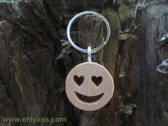 Porte-clés en bois massif Emotibois Amour en chantournage