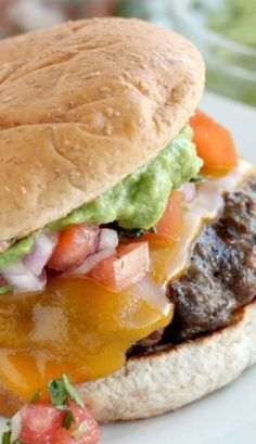 These were titled Mexican Burgers for some reason. Maybe because of the guacamole and salsa? Well, whatever they are they look delicious.