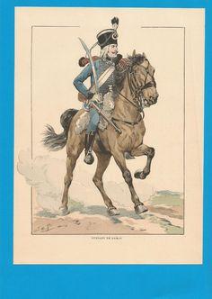 France -Planche de JOB - Emigrés.Hussard de DAMAS. | Collections, Militaria, Documents, revues, livres | eBay!