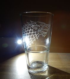 Glass Engraving - Game of Thrones: House Stark - https://www.youtube.com/watch?v=a4TEOZUAfDg
