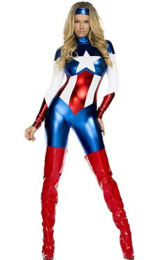 Womens the #avengers captain america fancy dress #costume ladies #superhero costu,  View more on the LINK: http://www.zeppy.io/product/gb/2/172468447681/
