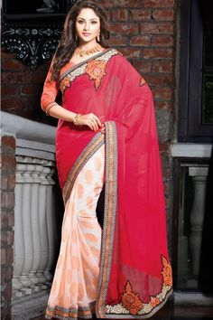 Red Color Designer Party Wear Sarees From Easysarees.