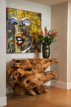Pratt Designs :: Cherry Creek :: Vibrant Vignette #interiordesign #artwork #accessories #accents #denver #cherrycreek #colorado