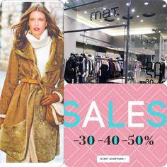 Εκπτώσεις -40% και -50% σε όλη την συλλογή της mat. Enjoy Sales!! Mat Fashion, Fashion Show, Winter Sale, Events, Shopping, Dress