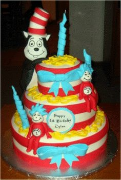 Dr. Seuss Themed Cake    Uploaded by Michelle on Wednesday Jun 20 03:40:27 2012  Submitted into the July, 2012  Inkedibles Contest