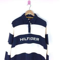 032ab52f Vintage Tommy Hilfiger Big Logo Shirt Rugby Sailing Gear 90's XL Women's  Polo #tommyhilfiger #polo