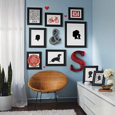 michaels tips on how to hang frames should be 60 inches from the ground at eye level 4 6 inches above any furniture and more photo walls