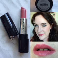 Mary Kay Gel Semi-Matte Lipstick swatch in Mauve Moment