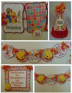 Winnie the Pooh 1st Birthday Petite Birthday by ASweetCelebration