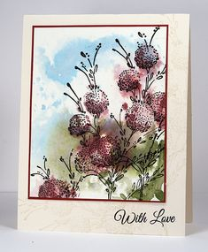 Delicate Floral with watercolour background by Heather Telford, via Flickr