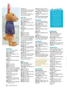 knitting little cotton rabbits Teddy Bear Knitting Pattern, Animal Knitting Patterns, Crochet Dolls Free Patterns, Amigurumi Patterns, Crochet Toys, Knit Patterns, Crochet Pattern, Wrap Pattern, Animal Patterns