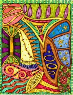 zentangle By carolynboettner Zen Doodle, Doodle Art, Motif Arabesque, Tangle Art, Doodle Coloring, Wow Art, Doodle Drawings, Art Journal Pages, Zentangles