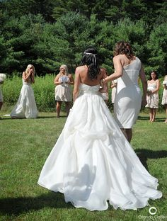 The moment everyone's tears started flowing.   Amy and Casey   July 2013 #wedding #brides