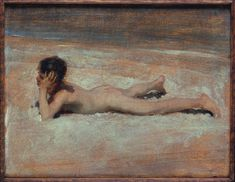 Artwork page for 'A Nude Boy on a Beach', John Singer Sargent, 1878 John Singer Sargent, Inspirational Artwork, Inspiring Art, Art Uk, Beach Art, American Artists, Art Images, Art Reproductions, Sketches