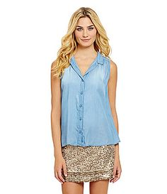 Chelsea and Violet TulipBack Blouse #Dillards