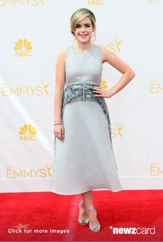 Actress Kiernan Shipka attends the 66th Annual Primetime Emmy Awards at the Nokia Theatre L.A. Live on August 25, 2014 in Los Angeles, California.  (Photo by David Livingston/Getty Images)  --  Access, discover and share millions of images at *newzcard.com.