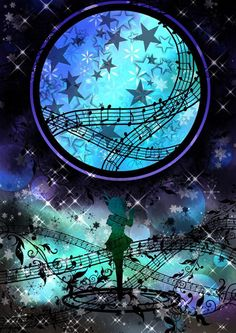This just looks.... so beautiful.... with the moon...and the music notes...... and just everything..... I'm just speechless.