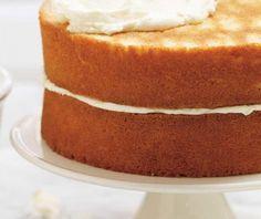 Παντεσπάνι εύκολο, αφράτο και λευκό   Συνταγή   Argiro.gr Greek Cake, Greek Desserts, Sweets Cake, Sponge Cake, Cornbread, Vanilla Cake, Sweet Recipes, Cake Decorating, Deserts