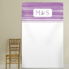 Orchid Ombre Personalized Photo Booth Backdrop