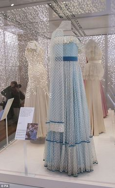 The dress worn by Lady Diana Spencer as a young debutante in 1979
