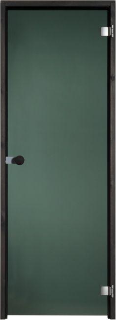 Musta lasiovi tuo savusaunamaista tunnelmaa löylyhuoneeseen. Vedinvaihtoehdoissa lukuisia malleja.