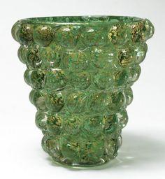 Ercole Barovier (1889-1974), ''LENTI'' Glass Vase.