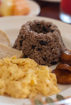 Gallo Pinto, typical Tico breakfast.