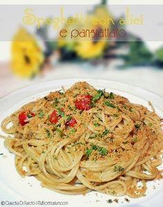 Spaghetti con alici e pangrattato