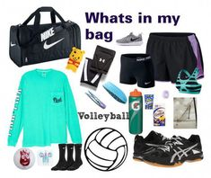 Whats in my Volleyball bag? Volleyball Skills, Volleyball Memes, Volleyball Practice, Volleyball Training, Volleyball Workouts, Volleyball Outfits, Volleyball Players, Coaching Volleyball, Beach Volleyball