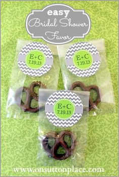 Easy Bridal Shower Favor - I wanna do a bunch of cute little goodies that people can take home and enjoy.