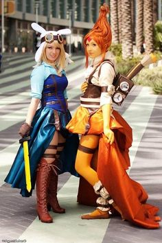 cosplay costumes, cosplay,lady cosplay, Steampunk costumes,  Fionna and Flame Princess