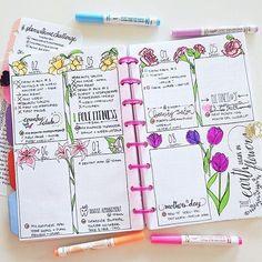 Image result for spring bullet journal