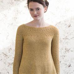 Yarrow sweater by Quince & Co. using Kestrel yarn in Yarrow.