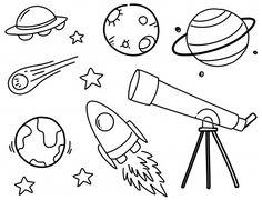 Set of space doodles Premium Vector Set of space doodles Premium Vector drawings planets Space Drawings, Mini Drawings, Doodle Drawings, Easy Drawings, Space Doodles, Easy Doodle Art, Bullet Journal Writing, Cute Doodles, Bullet Journal Inspiration