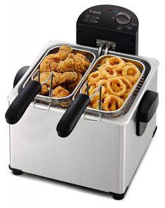 Pro Deep Fryer Cook Large Capacity 4.5 L Oil 3 Baskets Adjust Time Temperature