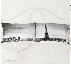 Gift Idea: Paris Panorama White Pillowcase Set  | #pintowinGifts & @Gifts.com | great as part of my breakfast in bed themed gift to hubbie