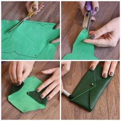 Pocket from Leather | Crafts Tutorials Blog - Ideas For Crafts    #diy #crafts