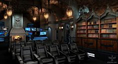 Batcave inspired home theater