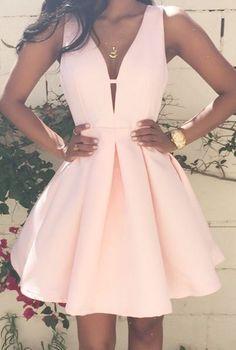 Hot Sale Sexy Deep V-Neck Sleeveless Cocktail Dressses vestido de festa curto Mini Satin A-Line Homecoming Gowns Custom Made