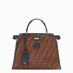 FENDI PEEKABOO DEFENDER - Black patent leather bag with cover - view 1  detail Black Patent dbe89632a20