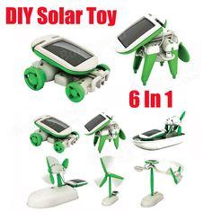 New 6 In 1 Educational Solar Toys Kit Robot Chameleon - US$4.49