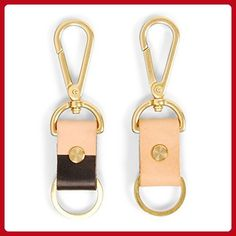 Alfa / Lux Leather and Brass Dip-Dyed Keychain - Little daily helpers (*Amazon Partner-Link)
