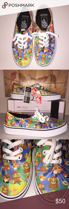 39cd1ad931e3 NWT Vans Authentic Nintendo Super Mario Bros Totally awesome and exclusive  Vans and Nintendo collaboration on