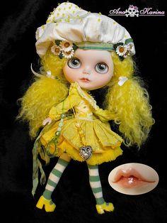 OOAK custom Blythe vintage 80's Lemon Meringue   by Ana Karina *Ninia Veneno* aka Blythe_Evolution