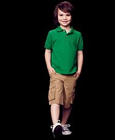 Tommy Hilfiger Little Boys' Ivy Polo Shirt & Back Country Cargo Shorts