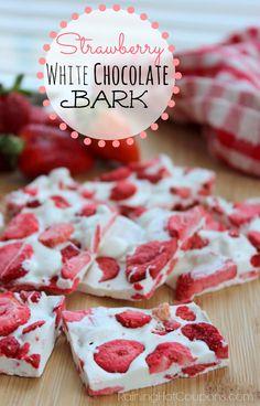 Strawberry White Chocolate Bark