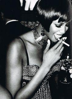 BLACK - pinterest.com/fra411 #black #beauty - naomi campbell