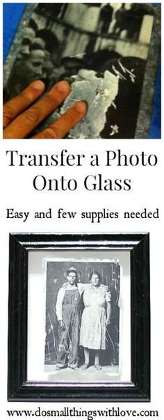 Photo Transfer onto Glass This full diy tutorial for transferring a photo onto glass is an amazing idea. Makes a perfect gift and a fun way to preserve memories! Photo Projects, Diy Projects To Try, Crafts To Make, Fun Crafts, Craft Projects, Arts And Crafts, Craft Ideas, Diy Photo, Photo Craft