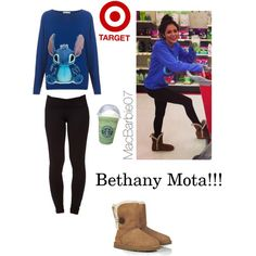 Bethany Mota outfit, minus the uggs for ridding boots or converse shoes and I'm all over that outfit